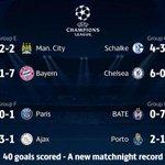 REKOR | Bu gece oynanan Şampiyonlar Ligi maçlarında toplam 40 gol atıldı. http://t.co/YdvoEHRaXT