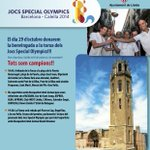 Demà rebem la torxa dels Special Olympics. Acompanyans en suport dels esportistes amb discapacitat intel·lectual. http://t.co/lz3b7E1v2p