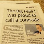 A lovely Jeff Kennett column on Gough today in the Herald Sun. Far better than nasty Bolt sniping on his blog. http://t.co/OglsLqHWKf