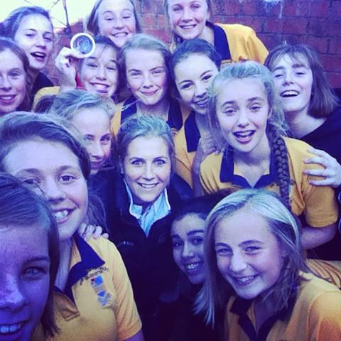 Georgie Twigg @georgietwigg: Fab day @KingsSchoolGlos coaching and speaking, selfie with the u14s to finish it off nicely... :) http://t.co/n7h4rsYdOL