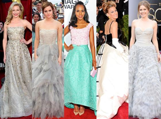 Remembering Oscar de la Renta: A look back at the designer's most iconic red carpet gowns.