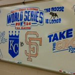 Teacher & lifelong @Royals fan @jcarter74 has his classroom decked out for the #WorldSeries: http://t.co/e6Ay5H0ooY http://t.co/90rtU3zgeq