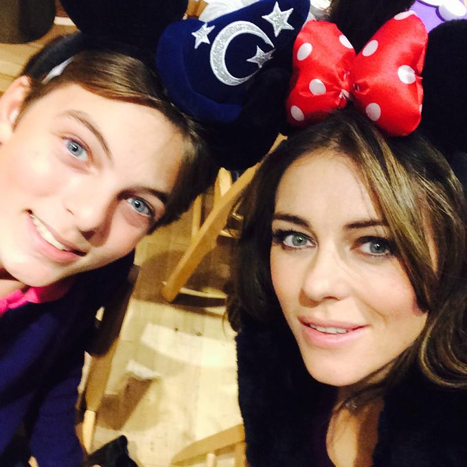 Elizabeth Hurley @elizabethhurley: With my little man at the Disney Cafe @Harrods http://t.co/RSyDfOmYiU
