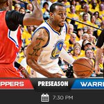 MT @warriors ITS GAME DAY! Preseason continues tonight as Dubs return to #WarriorsGround on @andre Bobblehead Night https://t.co/mU6AFIBx4r