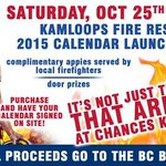 RT @ChancesKamloops: Do not miss this Saturday 7pm at Chances Kamloops! Kamloops Fire Rescue 2015 calendar Launch Party @KamFire http://t.co/QwsTwBuI2A
