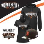 RT @SFGiants: #WorldSeries gear - now available at all #SFGiants Dugout Store locations. #OctoberTogether #SFGiants http://t.co/zufsufqTxt
