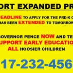 Call .@GovPenceIN and tell him to support expanded pre-k! http://t.co/oxTifHpJY0