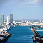 #Photo—Beautiful view of #PortMiami #cruise ships, #cargo containers, and #DownTown #Miami http://t.co/57yW3ovgAv