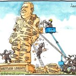 Gough #Whitlam dies at 98 as his social and political reforms continue to be eroded Peter Lewis cartoon #auspol http://t.co/naCxN2susC