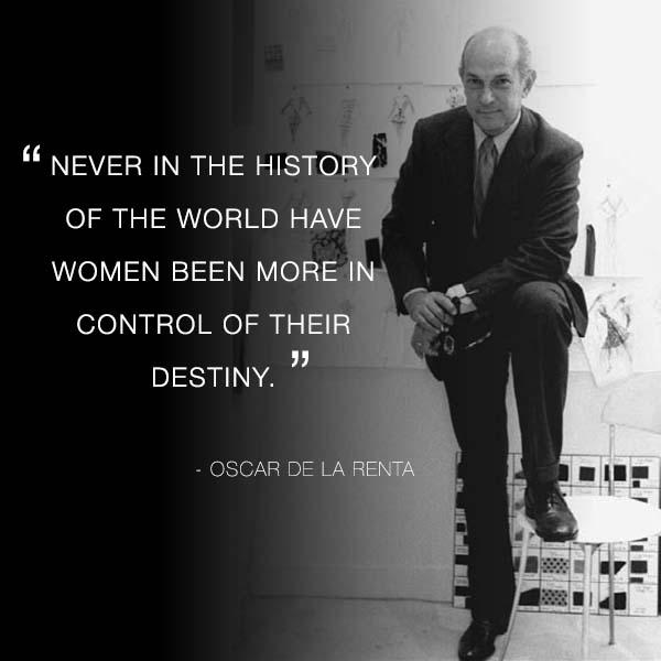 An incredible, inspiring talent will be dearly missed. #OscarDeLaRenta http://t.co/oXexB2JwFY