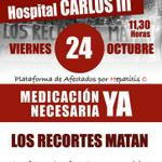 """RT @MareaBlancaMad: """"@PLAFHC: Nos ayudas a difundir? Todas el viernes al Carlos lll por ti, por mi, por tod@s mis compañer@s RT http://t.co/e7qT0ddXRh"""""""