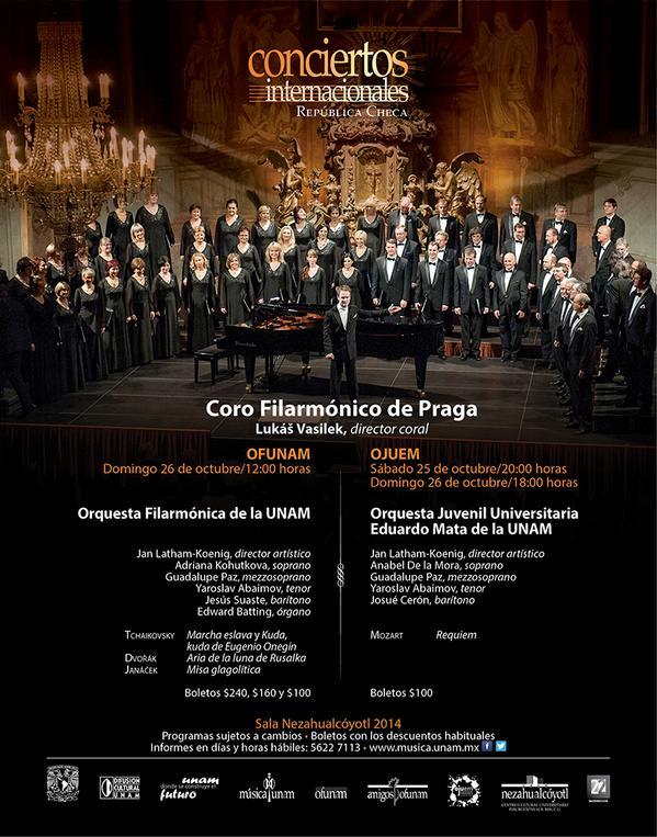 Requiem de Mozart con la OJUEM y el Coro Filarmónico de Praga http://t.co/AlIstbxiVf Sala Nezahualcóyotl http://t.co/YYHNBylQqu