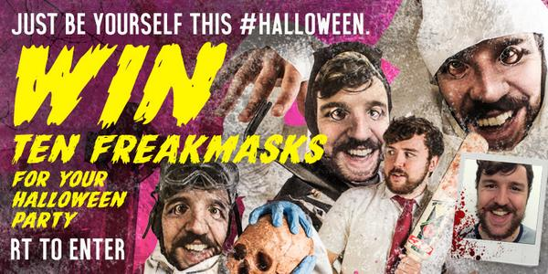 Just be yourself this #halloween. Win 10 @freakmasks for your Halloween party. RT to Enter #freakyhalloween #giveaway http://t.co/XCYpBuFLUc