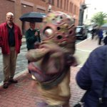 RT @unionstudioarch: Outside our office: @Bignazo entertaining #OurPVD after city-wide power outage caused by a squirrel. #morefuninPVD http://t.co/wcZgXjAHVG