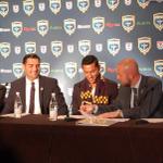 RT @JaxArmadaFC: Coach Villarreal, GM Dario Sala, Miguel Gallardo & Owner Mark Frisch, signing the first player contract. http://t.co/PEeaJvo151