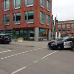 Police no longer at #Kitchener City hall. No word on why they were there. Witnesses say officers had weapons drawn. http://t.co/g277i86m9i