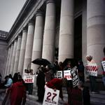 RT @anitakissee: Rally outside #WA Supreme Court against http://t.co/vKcjmAfWcd. Child sex trafficking case. Live on @tvwnews @ 2p-ish http://t.co/l8y7kJPmjF