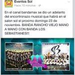 """RT @QueMachinCMClub: """"@GuillenKatte: Domingo 23 de noviembre en el """"Salón Sol"""" de Cancún @B_RanchoViejo VS @sebastianes ???????????? http://t.co/oZj85DKGG2"""""""