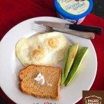 Julian Bakerys Paleo Bread + @Earth_Balance #organic Coconut Spread= Yum! #keto #lowcarb #paleo @ThePaleoBread http://t.co/bQowCRsCmz