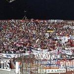 RT @barrabravphotos: Hinchada de Cerro Porteño ahora en Lanus por Copa Sudamericana http://t.co/90BYrL73Sm