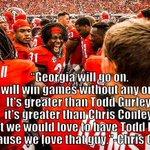 "#Dawgs Chris Conley said it best - ""Georgia will go on. Georgia will win games..."" #DawgsOnTop #BeatFlorida http://t.co/9aVnddlQfJ"