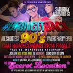 RT @FinessHER: CAU HOMECOMING FINALE FVSU vs MOREHOUSE AFTERPARTY POST HALLOWEEN JUMP OFF #BringItBack TO THE 90s! http://t.co/0pWtzjaC5b
