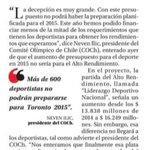 RT @KarenGPChile: Para que puedan entender lo que los deportistas de Alto Rendimiento en Chile estamos tratando de revertir. Porfa RT http://t.co/tXBtwftcyt