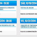 RT @ecuavisa: Revisa las actividades que se preparan para finalizar las fiestas octubrinas. http://t.co/BOY8zuCixm http://t.co/WIp8YdPwXO