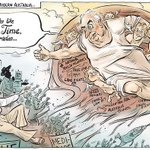 RT @Elias_Hallaj: MT @StanSteam2: The creation of modern Australia @davpope cartoon via @canberratimes #auspol #GoughWhitlam http://t.co/3g4SeKmsnY