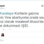 RT @DeLaL_ML: Kürtlerin yardımını kabul eden Türkmenleri kan kardeşliğinden aforoz edecekler neredeyse! #DirenKaratepe http://t.co/yLgQJZdK7y