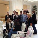 RT @HotelExedraNice: @NicolasSarkozy rencontre une sélection de lecteurs de @NiceMatin06 à l@HotelExedraNice présent le Maire @cestrosi http://t.co/LBRj9JPHAP