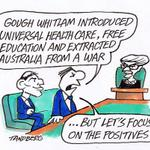 ...but lets focus on the positives Ron Tandberg cartoon via @theage #auspol #Whitlam #Abbott #teaparty http://t.co/ZlV3D8sWHX