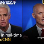 The big question: Will there be a fan? @CharlieCrist & @FLGovScott face off 7pET in #FLDebate: http://t.co/MfT9HSDYfB http://t.co/e40cbkcf3O