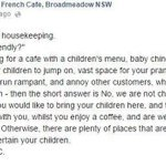 Newcastle cafe sparks debate about children in cafes http://t.co/62ONhMLWH9 | @goodfoodAU http://t.co/VmvraTNmat