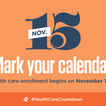 The countdown until open enrollment has begun. #HealthCareCountdown