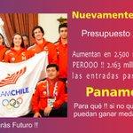 RT @AraucaniaJRN: con Bachelet, en el deporte sólo gana la FIFA, los deportistas ADO pierden más de 2.100 millones para su preparación. http://t.co/uWLyN4YFWR