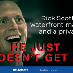Rick Scott keeps coming back to money . . . but you know where hes coming from. #FLDebate http://t.co/91k80VvtDz