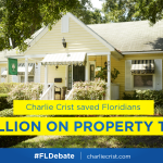 RT @Annette_Taddeo: .@CharlieCrist saved us billions on property taxes when he was governor. #FLDebate http://t.co/FIZWN76BTg
