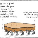 Cartoon of the day, by Michael Leunig. (More Leunig cartoons here: http://t.co/fnUN9DUJKt) #GoughWhitlam http://t.co/ij5CbaEAZA