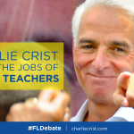 RT @Annette_Taddeo: .@CharlieCrist did fight for jobs as governor. He saved the jobs of 20,000 teachers. http://t.co/hSkcxSDWvp