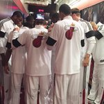 Your @MiamiHEAT are getting set to take the @AAarena floor! Tipoff coming soon! http://t.co/2iGAz30IqG