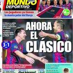 RT @mundodeportivo: Ahora el clásico #portada #DeportesCuatro http://t.co/SOKs426sFo http://t.co/HsiLetuaNH