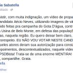 RT @MudaMais: Letícia Sabatella denuncia uso indevido de vídeo na campanha de Aécio http://t.co/yrISRbPOAz http://t.co/CSvH2BrDCW