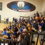 RT @gazettepreps: Rampart fans packing gym at Pine Creek for volleyball #copreps http://t.co/JUgMCBlosz
