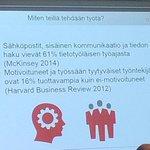 """RT @P_Lindstrom: """"61% työajasta menee viestintään ja tiedon hakuun"""" Miten tehostetaan? #dbevent #viestintä http://t.co/LctpQDycc6"""