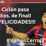 RT @ccp1912oficial: ¡FINAL!!! #Cerro @ccp1912oficial eliminó al actual campeón 2013 de la #CopaTOTALSudamericana!!! Marcador global 3-2!! http://t.co/Xxm9F3ehFF