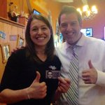 """Enjoying @GoAheadGetWild in #Guelph & surprise, our waitress Rachell says """"Hey, youre Cam! I just voted for you!"""" http://t.co/b2kXUsh0pt"""
