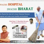 Today participating in Swachh Hosptial , Swachh Bharat initiative at the Osmania Hospital Hyderabad http://t.co/mhetEj4USp