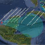 Mapa de TRAYECTORIA pronóstico de la #DEPRESIÓN TROPICAL No. 9 a partir de las 22 horas de hoy http://t.co/tAHM9NqqAv