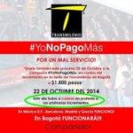 Esta es la iniciativa y mensaje que buscan con el #Colatón en Bogotá y el @TransMilenio ¡Mañana! http://t.co/2RKxfGYwa3